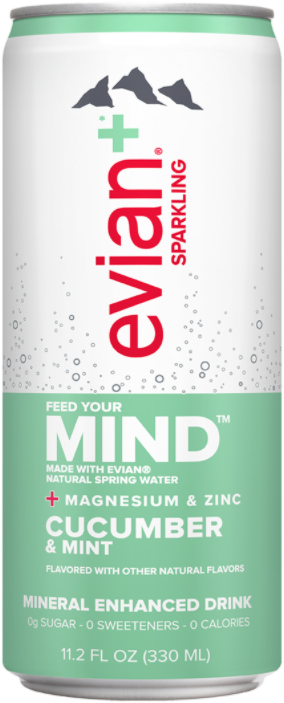 evian+ Cucumber & Mint Mineral Enhanced Sparkling Drink