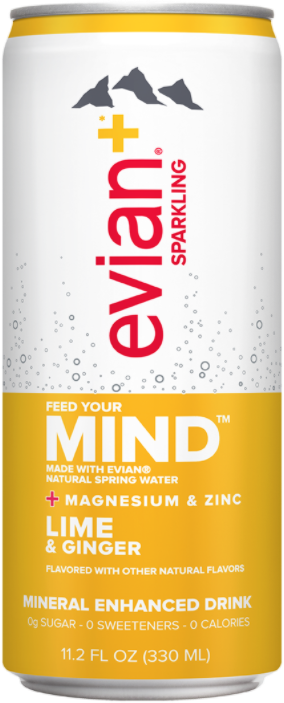 evian+ Lime & Ginger Mineral Enhanced Sparkling Drink