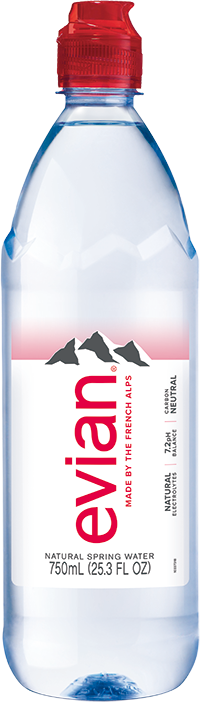 evian® 750 mL Bottle