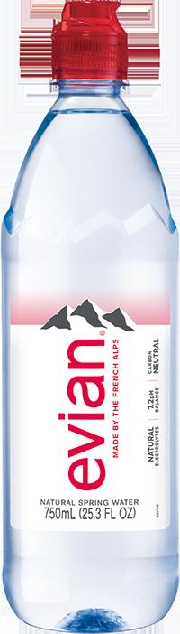evian® 750 mL Bottle