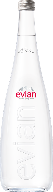 evian® Glass Bottle 750 mL