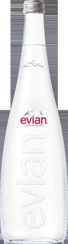 evian® Glass Bottle 750 mL