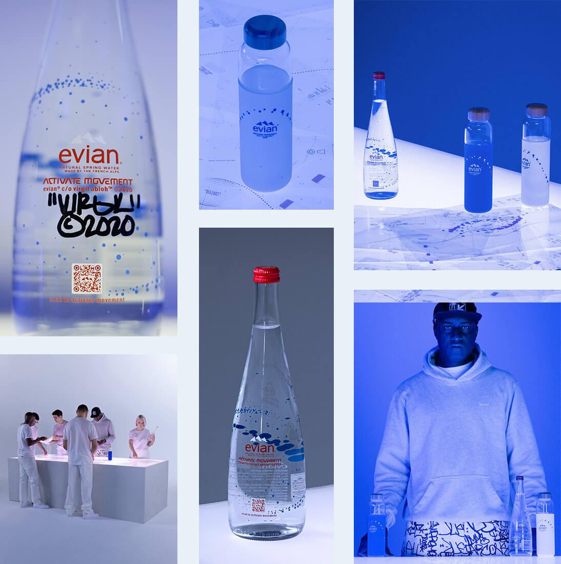 introduire alcool en festivals 8x Evian scellée bouteille couvercles